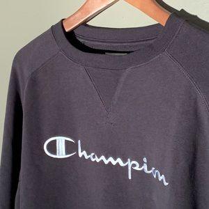 Champion Embroidered Crewneck Sweatshirt Black